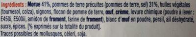 Croquettes de morue - Ingrédients - fr