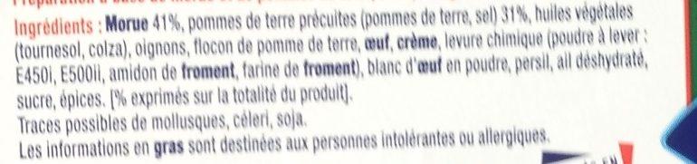 Croquettes de morue - Ingredients