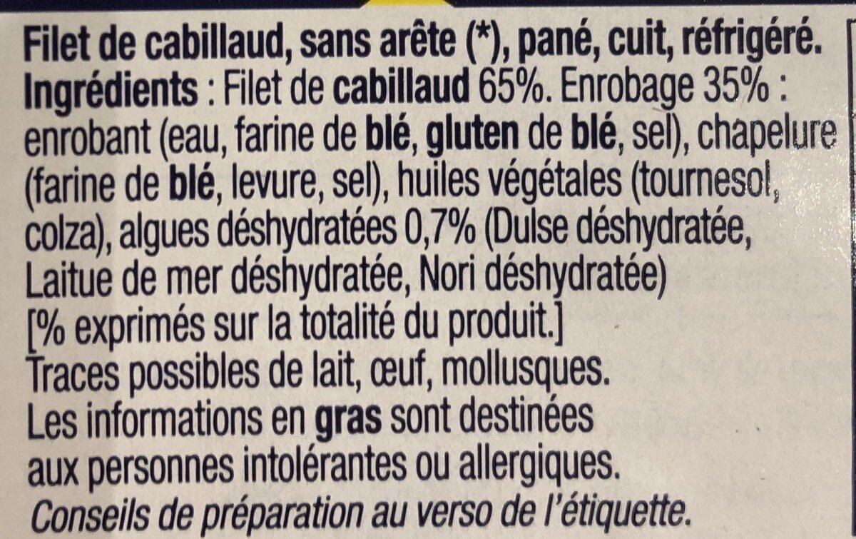 Filets de Cabillaud - Panés aux algues - Ingrédients - fr