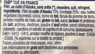 Filets de colin d'Alaska MSC meunière - Ingrédients - fr
