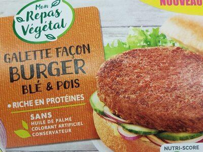 Galette façon burger blé et pois - Produit - fr