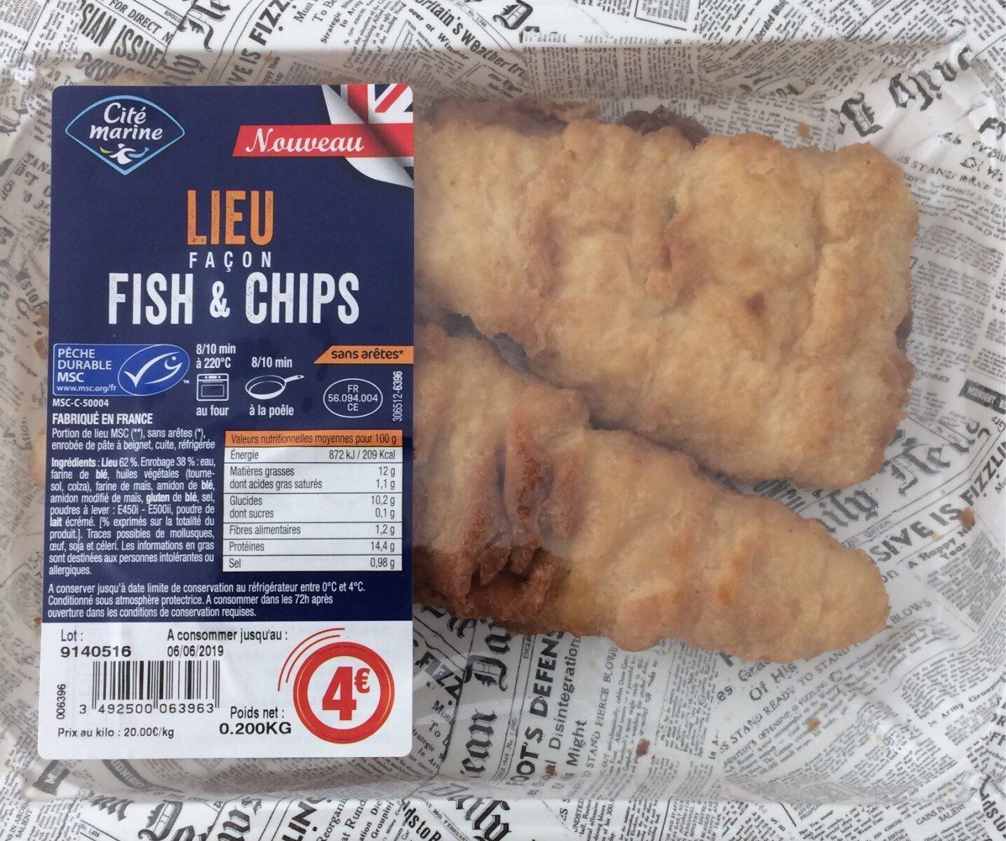 lieu façon fish & chips - Product