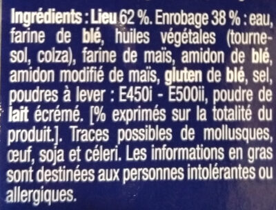 lieu façon fish & chips - Ingredients