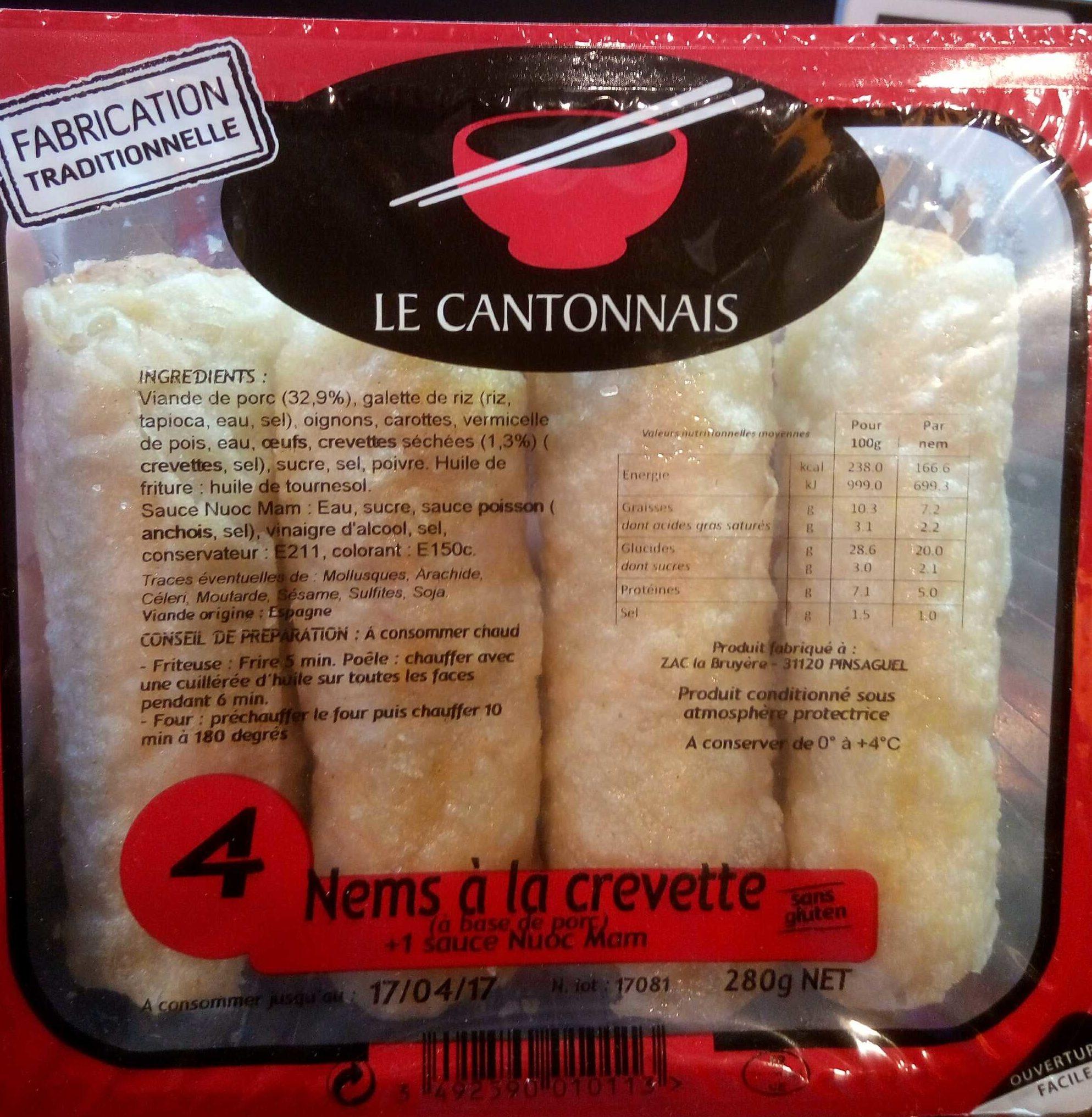 4 nems à la crevette - Produit - fr