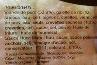 4 nems à la crevette - Ingrédients - fr