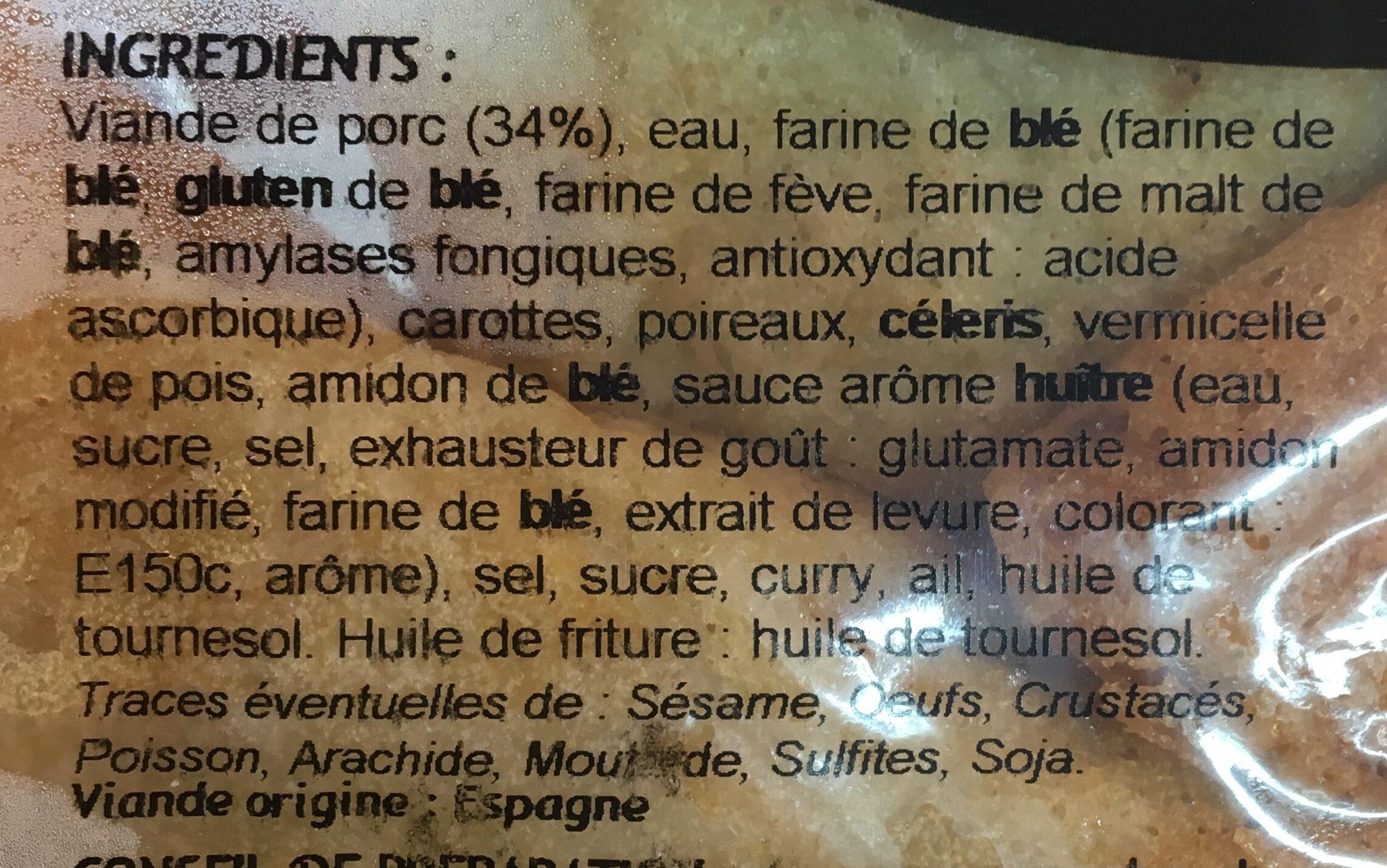 Le Cantonnais Samossas la barquette de 4 240 g - Ingrédients - fr