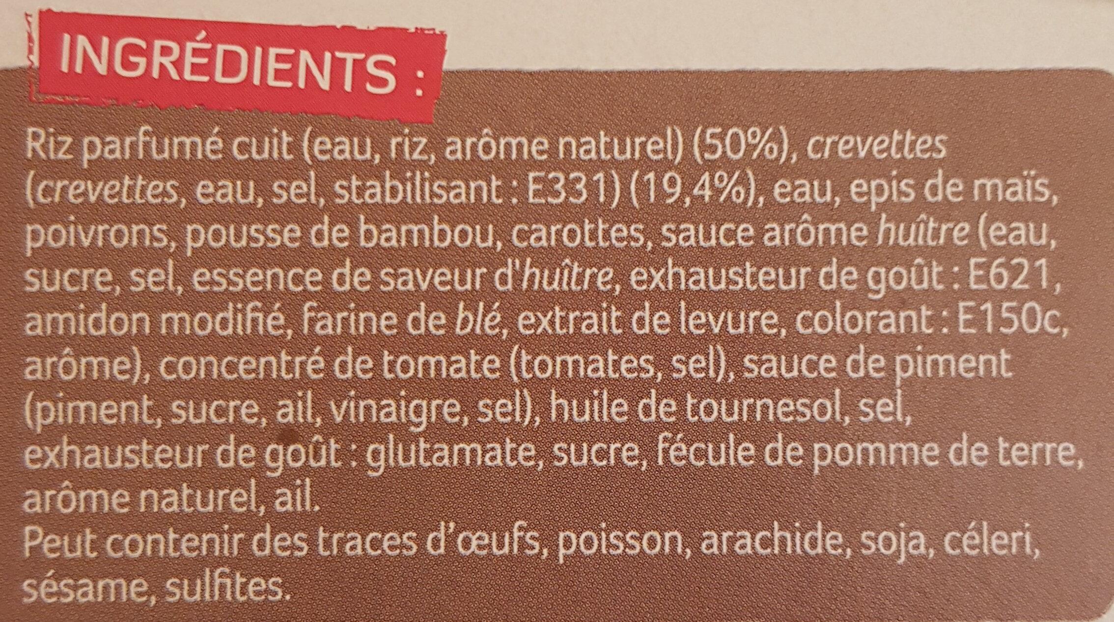 Crevettes Sauce Piquante et Riz Asiatique - Produit - fr