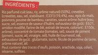 Crevettes Sauce Piquante et Riz Asiatique - Ingrédients - fr