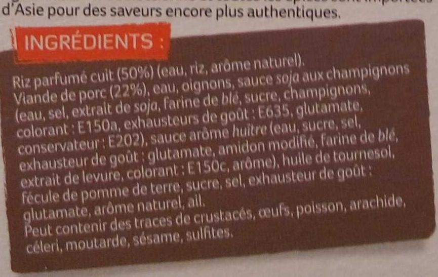 Porc au Caramel et Riz Parfumé - Ingrediënten - fr