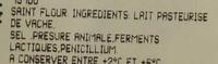 Fourme d'Ambert - Ingrediënten