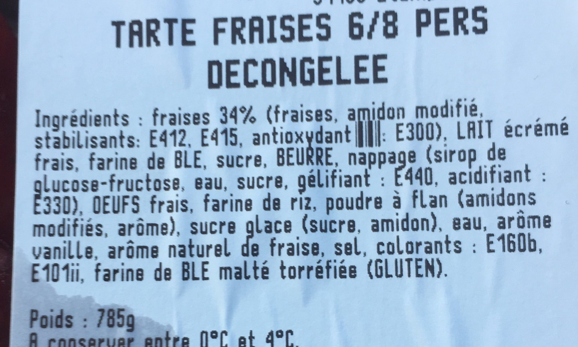 Fromage - Ingredients