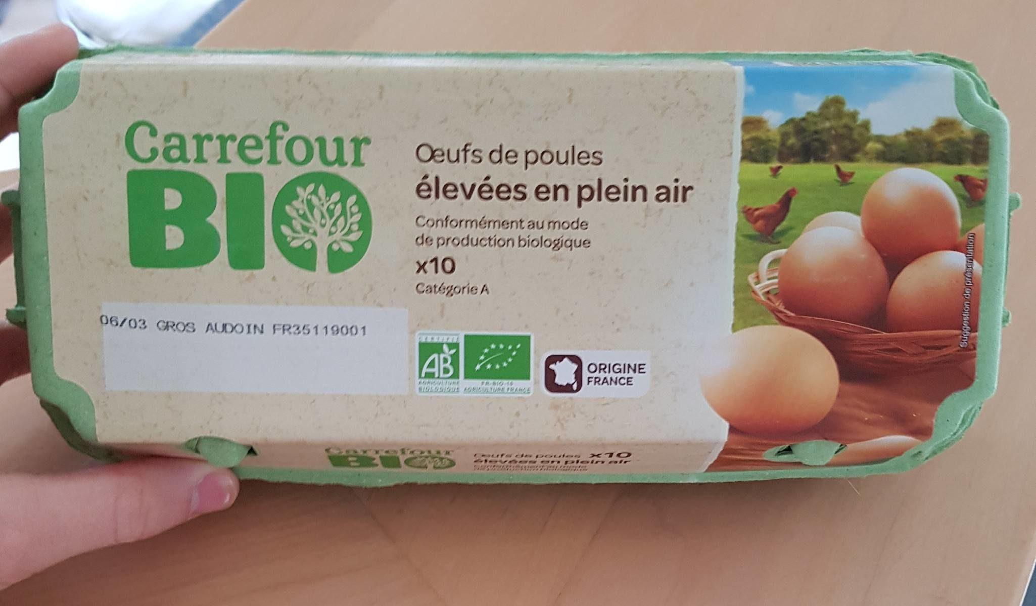 Oeufs de poules élevées plein air - Product