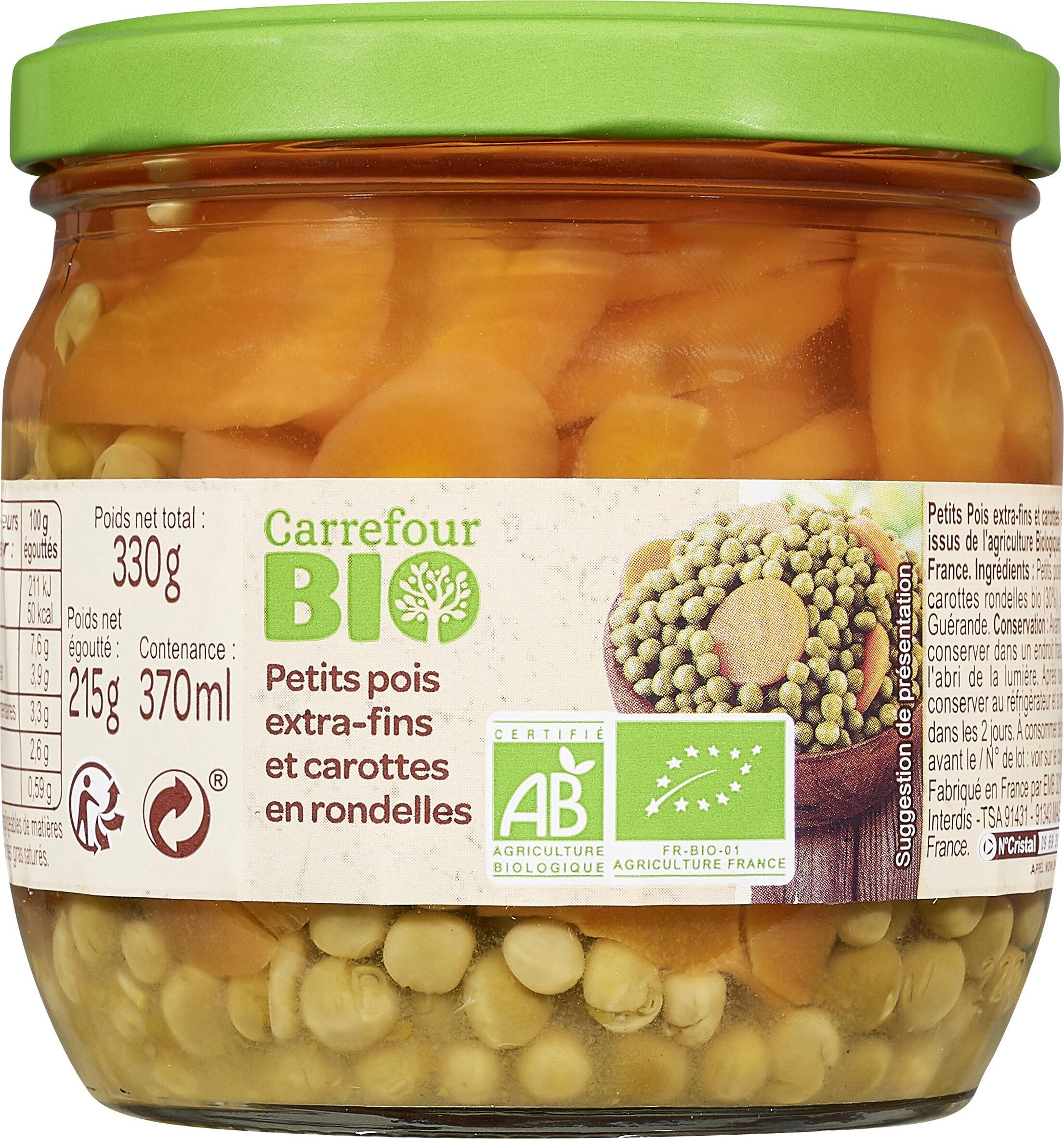 Petits pois extra-fins et carottes en rondelles - Produit - fr