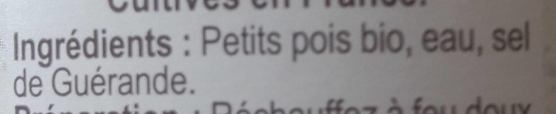 Petits pois extra-fins - Ingrédients - fr