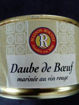 Daube de Boeuf marinée au vin rouge - Produit