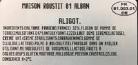 Aligot à la tome fraîche - Ingrédients - fr