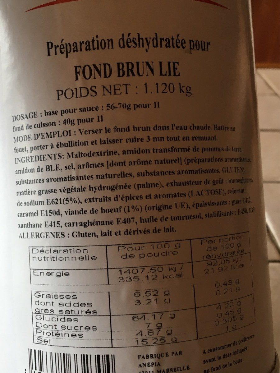 Fond Brun Lie - Produkt