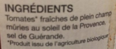 Coulis de tomates à l'ancienne - Ingrédients - fr