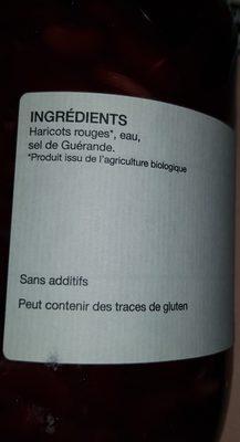 Haricots rouges au naturel - Ingredienti - fr