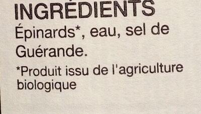 Epinards - Ingrédients - fr