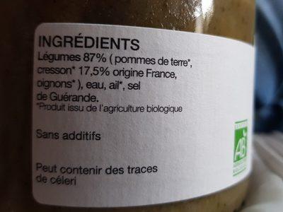Soupe cresson à diluer - Ingrédients - fr