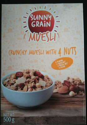 Crunchy muesly with 4 nuts - Product - fr