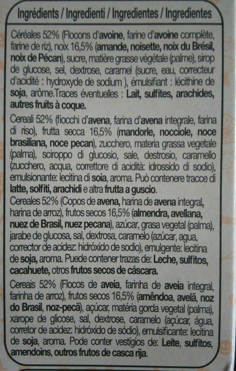 Crunchy muesly with 4 nuts - Ingrediënten - fr
