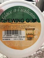 Glace chewing gum - Product - fr