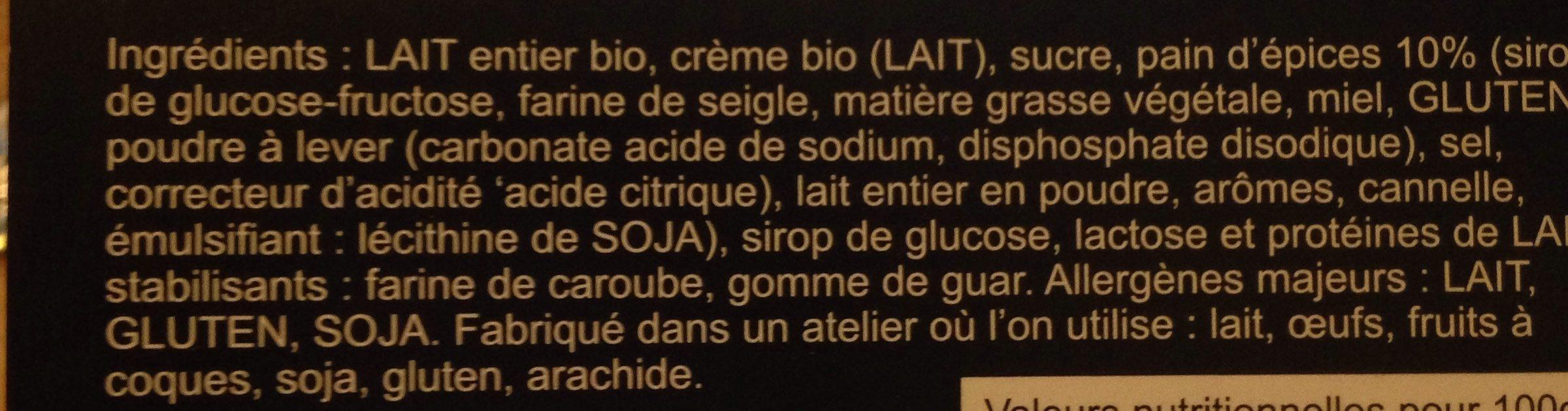 Glace pain d'epices - Ingrediënten - fr