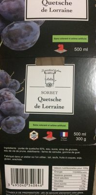 Sorbet Quetsche de Lorraine - Produit