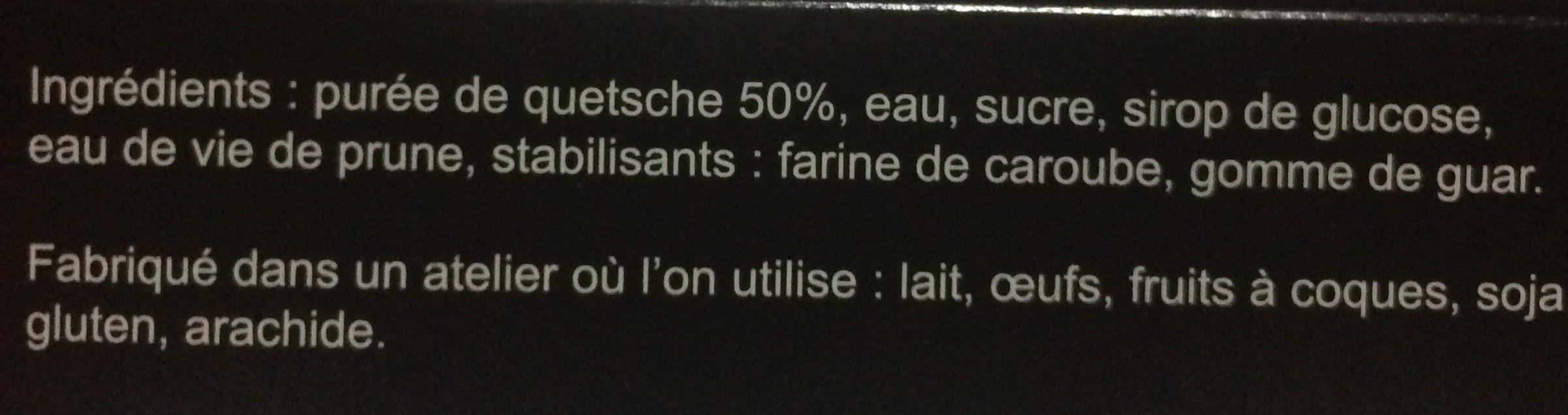 Sorbet Quetsche de Lorraine - Ingrédients