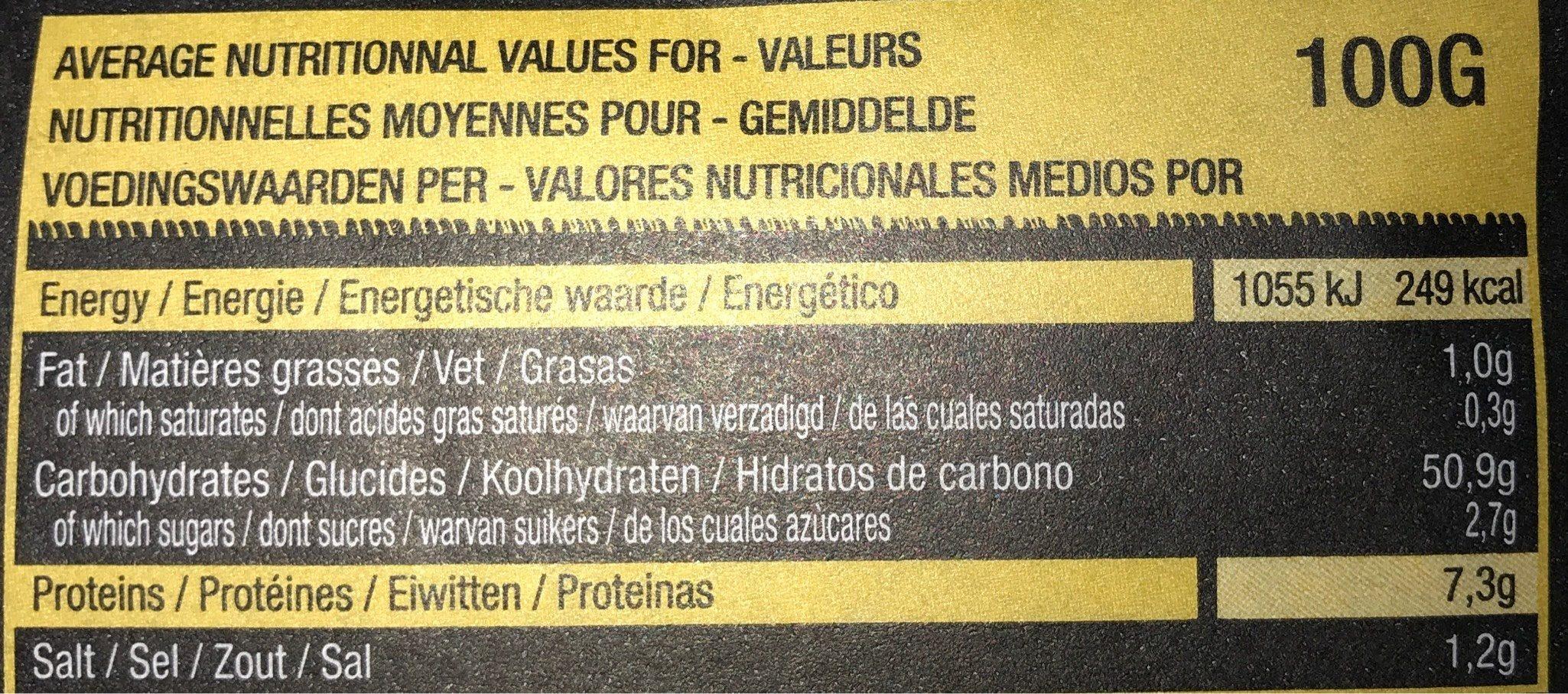 2 baguettes - Voedingswaarden - fr