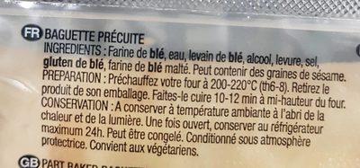 French baguette - Ingrediënten - fr