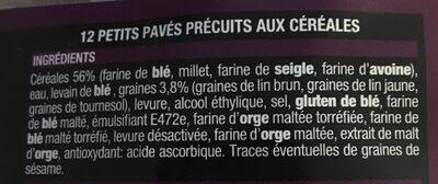 12 petits pavés aux céréales - Ingrediënten - fr