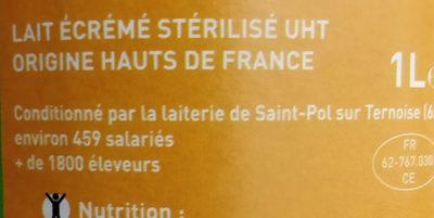 Lait écrémé des hauts de France - Ingredients - fr