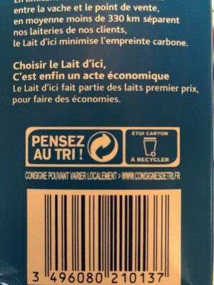 J'aime le lait d'ici - Recyclinginstructies en / of verpakkingsinformatie - fr
