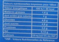 J'♥ le lait d'ici demi-écrémé stérilisé UHT - Nutrition facts