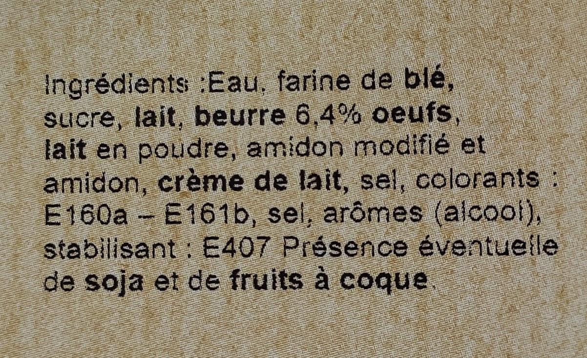 Flan nature - Ingrediënten - fr