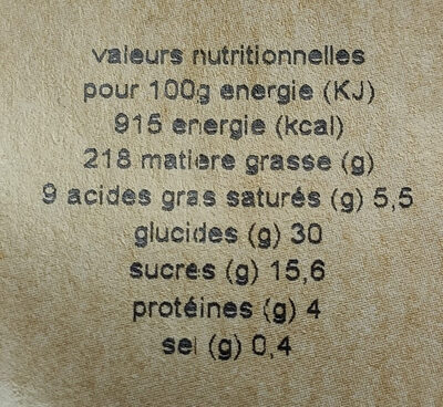 Flan nature - Voedingswaarden - fr