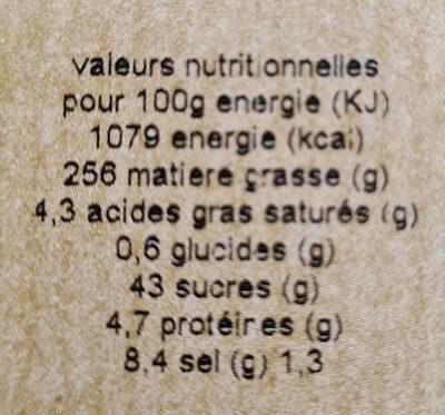 Pain de mie complet - Informazioni nutrizionali - fr