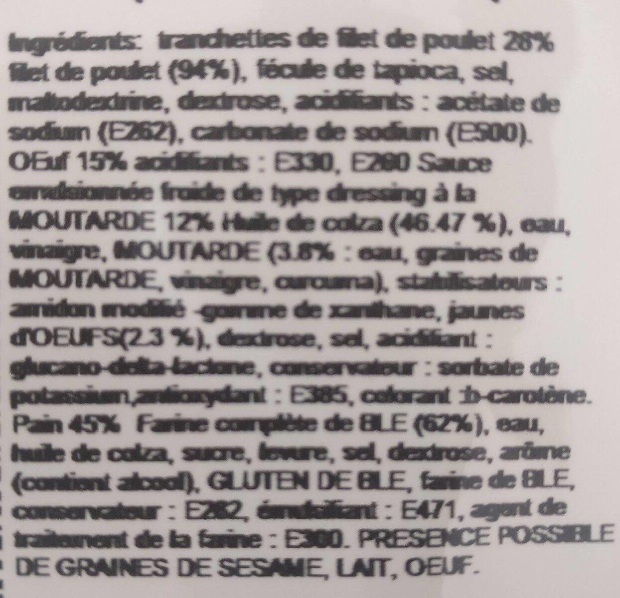 Croc Wich Poulet œuf - Ingredients