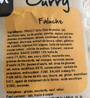 Sandwich curry - Ingrédients