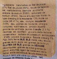 Sandwich Poulet - Ingredienti - fr