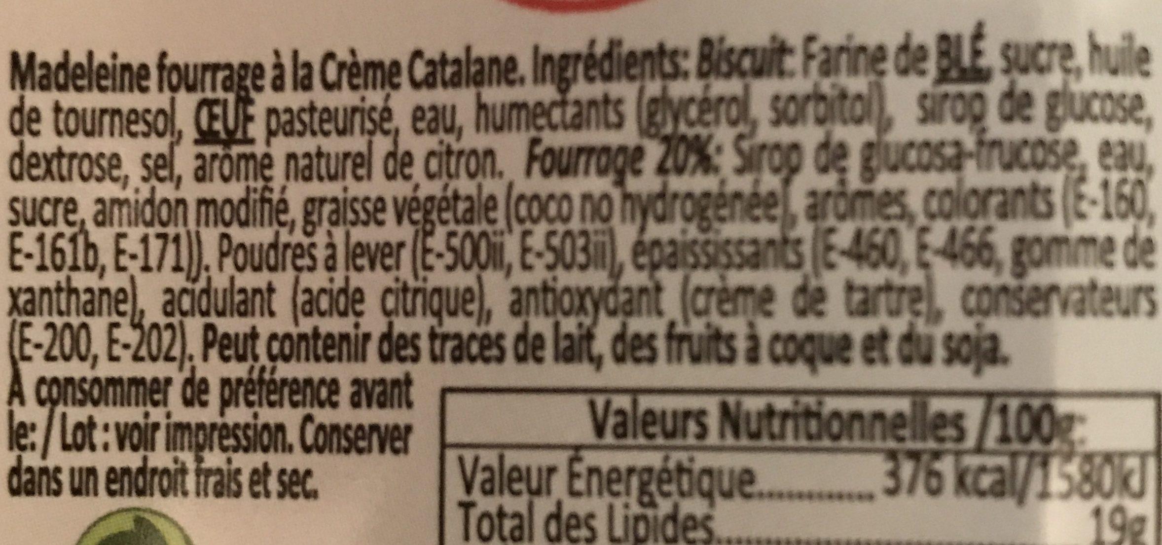 Delicias à la Crème Catalane - Ingredients