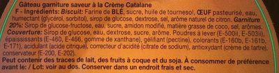 Crème catalane - Ingrédients