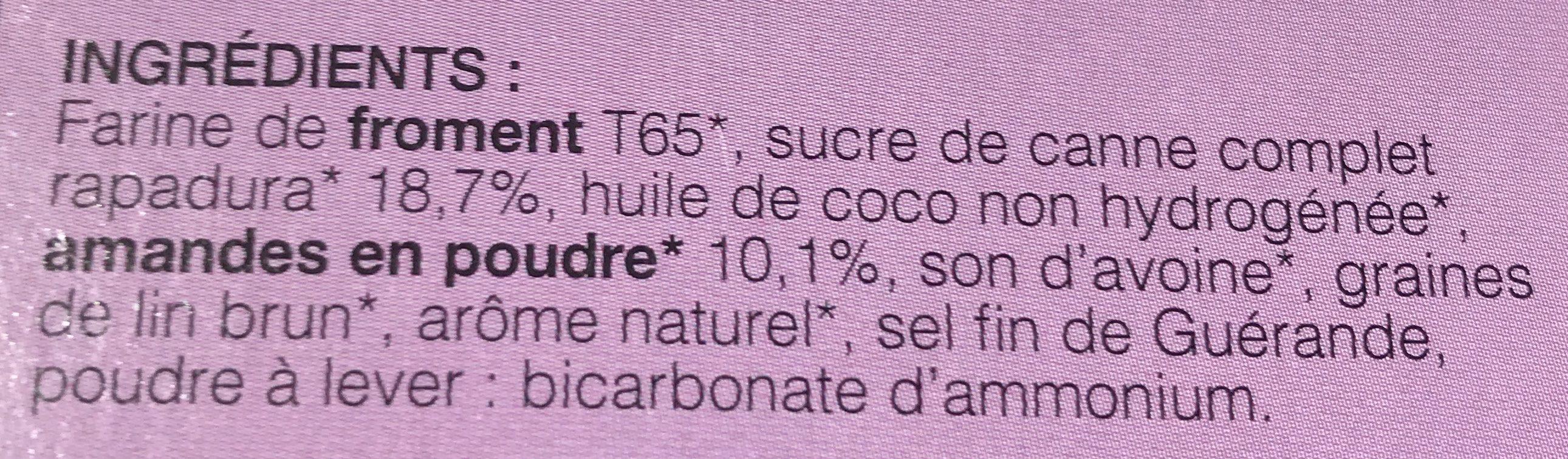 Mes Bons Biscuits Gourmets Amande & Rapadura - Ingrédients - fr