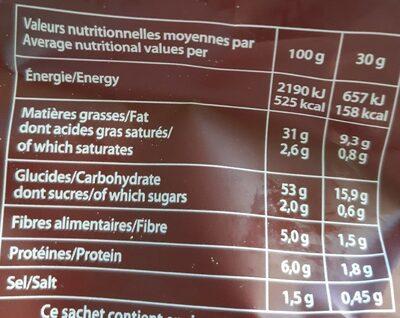 Chips Poulet Braisé - Informations nutritionnelles - fr