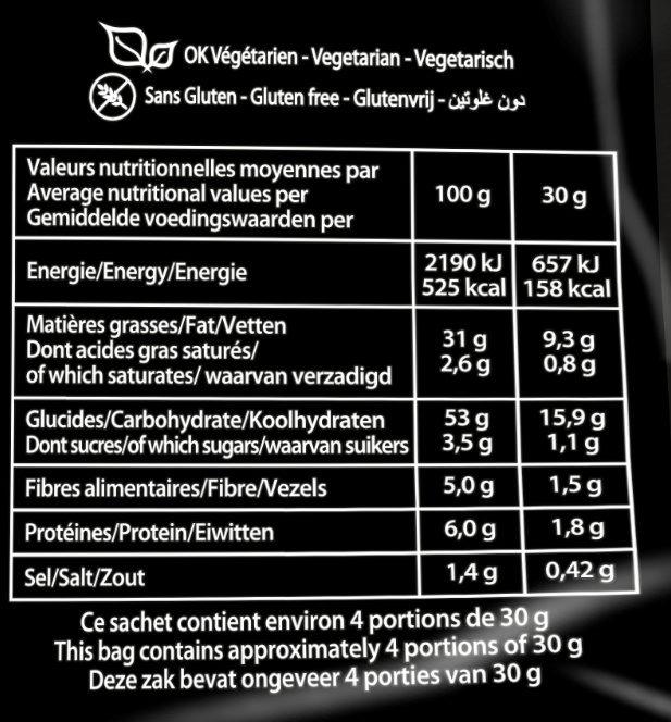 Chips saveur barbecue - Voedingswaarden - fr