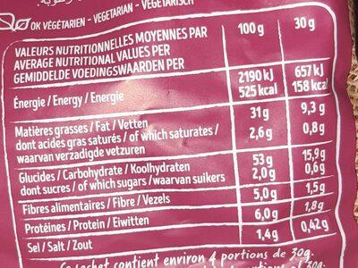 Chips saveur Sel & Vinaigre - Informations nutritionnelles - fr