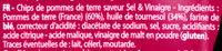 Chips saveur sel & vinaigre Les Aromatisées - Ingrédients - fr